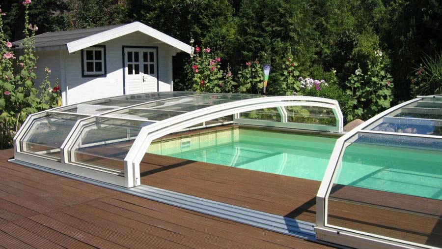Cubierta piscina para climatizacion